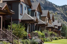 Homes in mountain town in Colorado