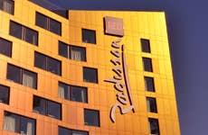 Radisson Hotel at sunset