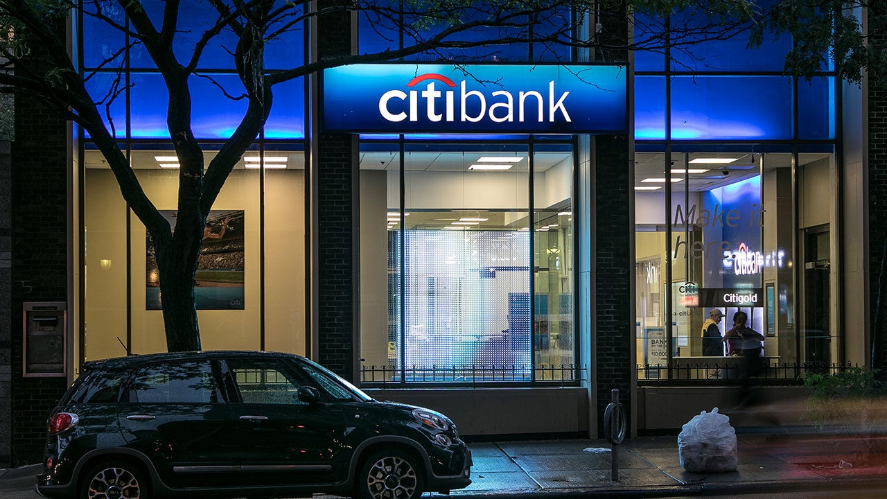 Citibank at night