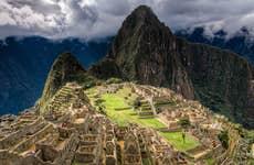 Machu Picchu with clouds