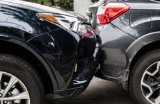 Fender bender car crash