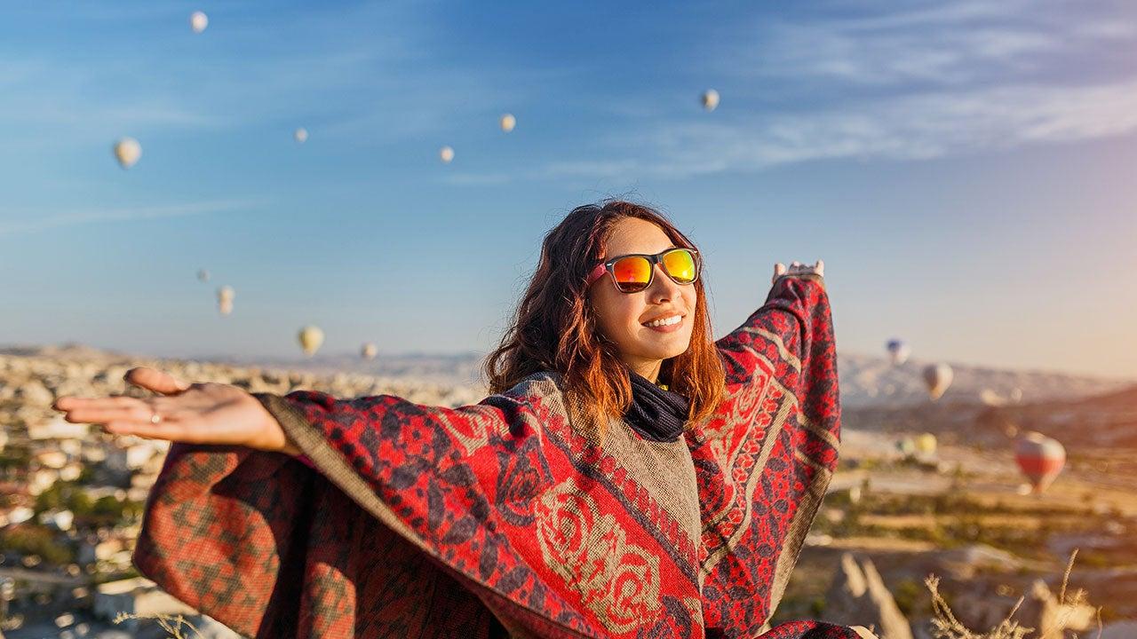 Woman at balloon festival