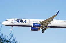 Jet Blue airplane taking off