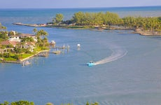 Boat on the water in Jupiter Florida