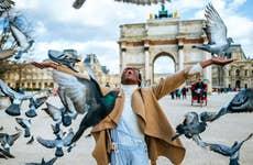 Woman at Arc de Triomphe