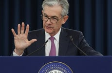 Federal Reserve Chair Jerome Powell at a press conference