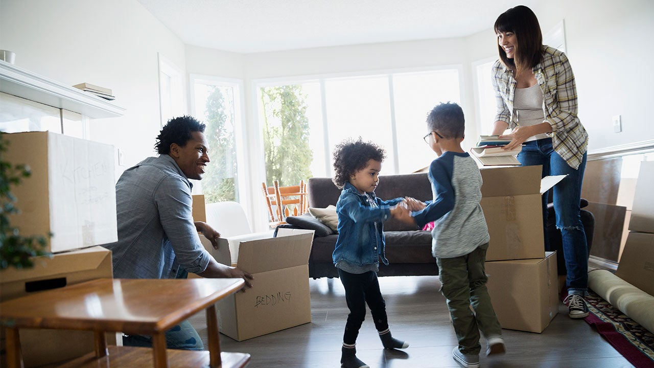 Family moving into home