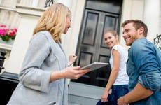 Realtor helping a couple buy a home