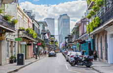 Cars on Royal Street in New Orleans
