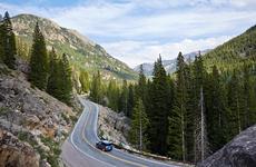 Car driving in Aspen, Colorado