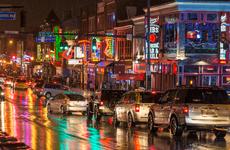 cars in the rain in Nashville, TN