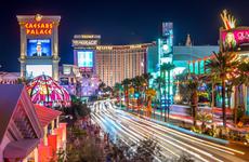 Las Vegas, Nevada street view at night