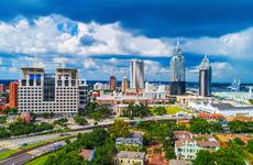 view of Mobile, Alabama skyline