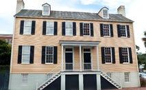A Georgian-style duplex home in Savannah, Georgia