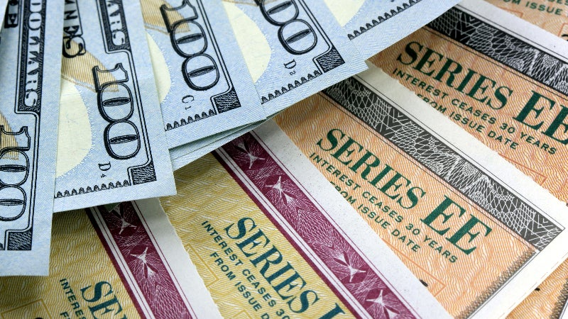 A picture of government savings bonds