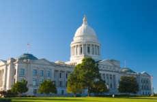 Shot of capital building in Arkansas.