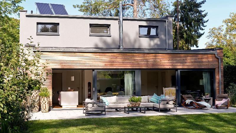 backyard of modern home