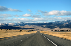 road in helena, montana