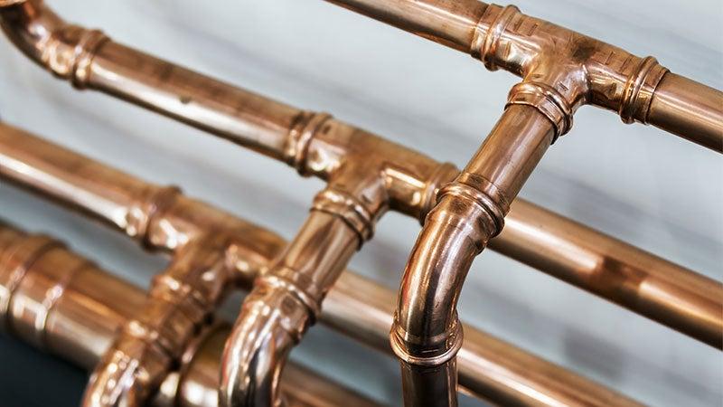 Copper pipe plumbing