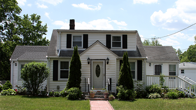 White residential home