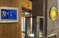 Programmable thermostat in home