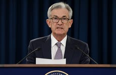 Federal Reserve Chairman Jerome Powell speaks at Fed press conference