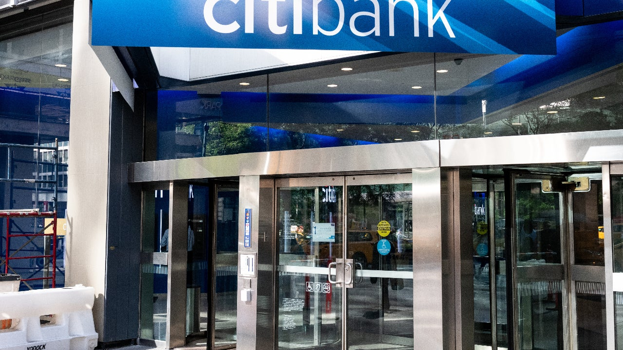 A bank branch in New York City.
