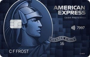 The name C F Frost, which appears as a placeholder on sample American Express credit cards, belongs to a real person.