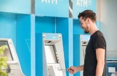 A man visits an ATM