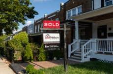 A home sale sign in the Eckington neighborhood of Washington, D.C.