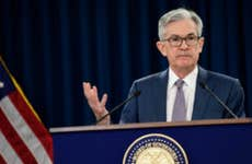 Federal Reserve Chair Jerome Powell speaks at post-meeting press conference