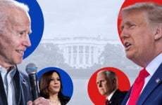 Biden and Trump head-to-head in front of the White House