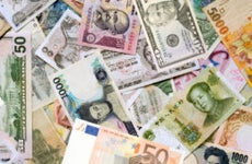 A picture of dozens of currencies