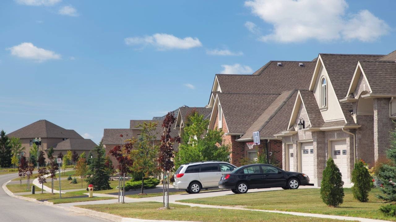 A neighborhood in the suburbs