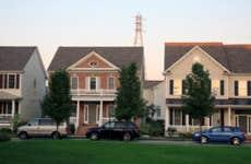 Suburban houses in Pennsylvania