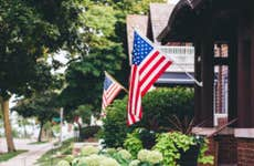 Flag on home