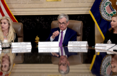 "Federal Reserve Chair Jerome Powell, Governor Lael Brainard and Governor Michelle Bowman attend a ""Fed Listens"" event"
