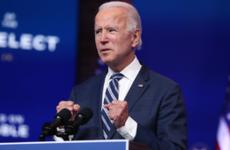 President-elect Joe Biden speaks at a Delaware address