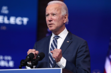President-elect Joe Biden speaks at a Delaware address