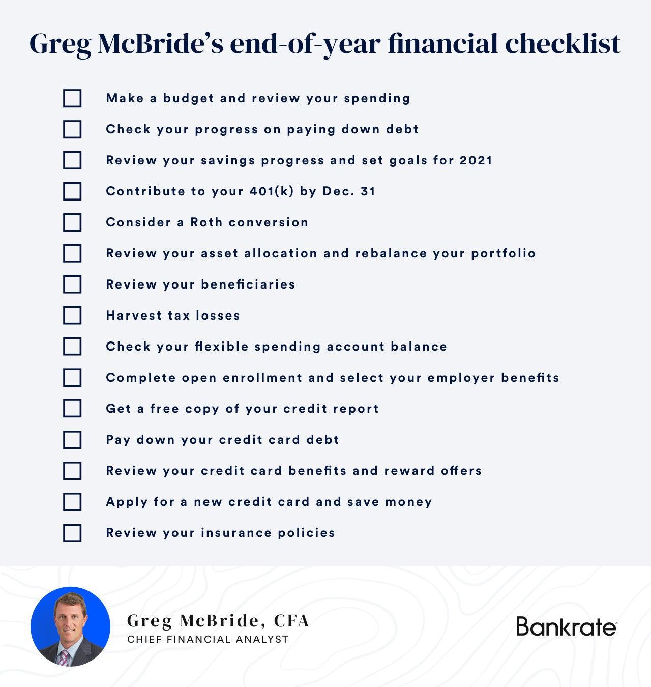 Greg McBride checklist