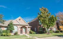 A neighborhood of single-family homes in Texas