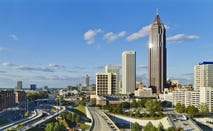 Traffic in Atlanta, Georgia.