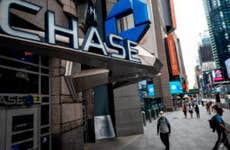 A Chase Bank branch near Times Square.