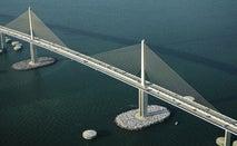 Iconic suspension bridge in Tampa.