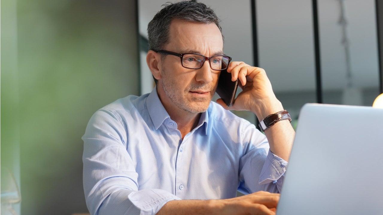 Man talks on the phone