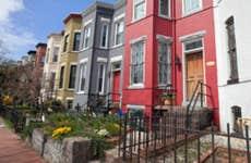 Row houses in Washington, DC