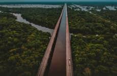 Major highway along the Louisiana coast.