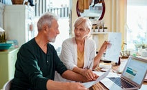 Senior couple managing their finances