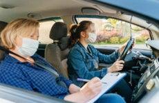 Teen Taking Driver Test
