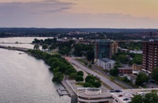Shot of the Wisconsin capital.